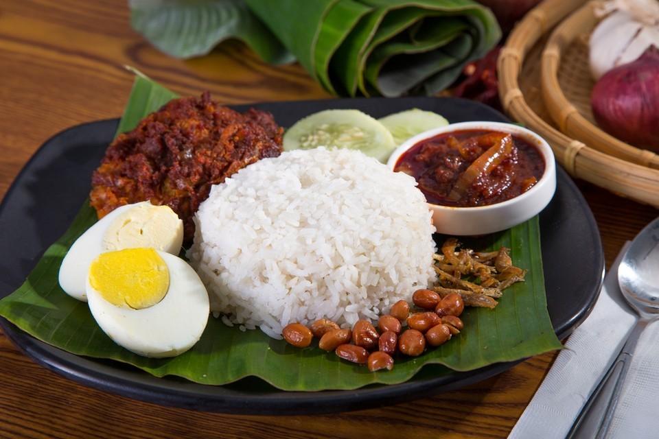 The traditional nasi lemak -kuala lumpur