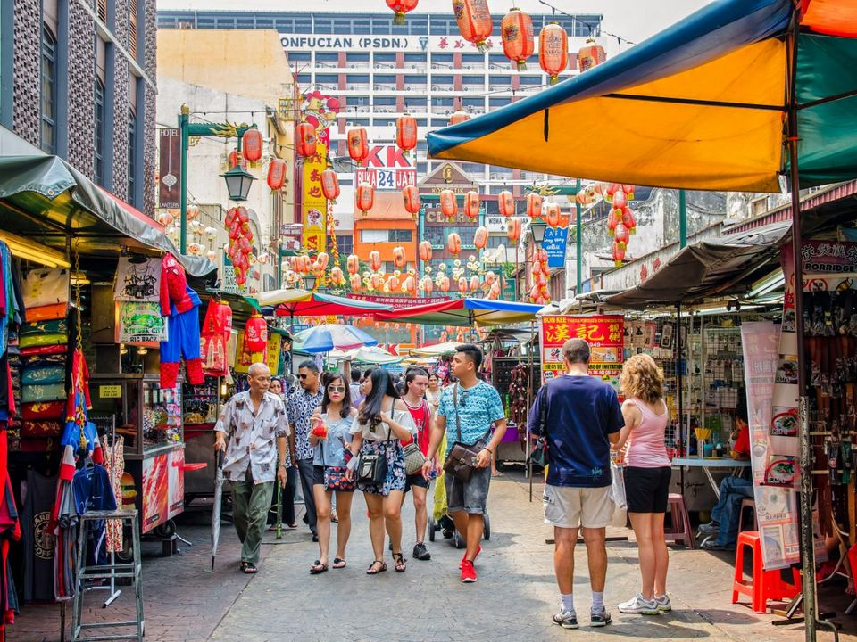 Petaling Street is packed with locals day and night