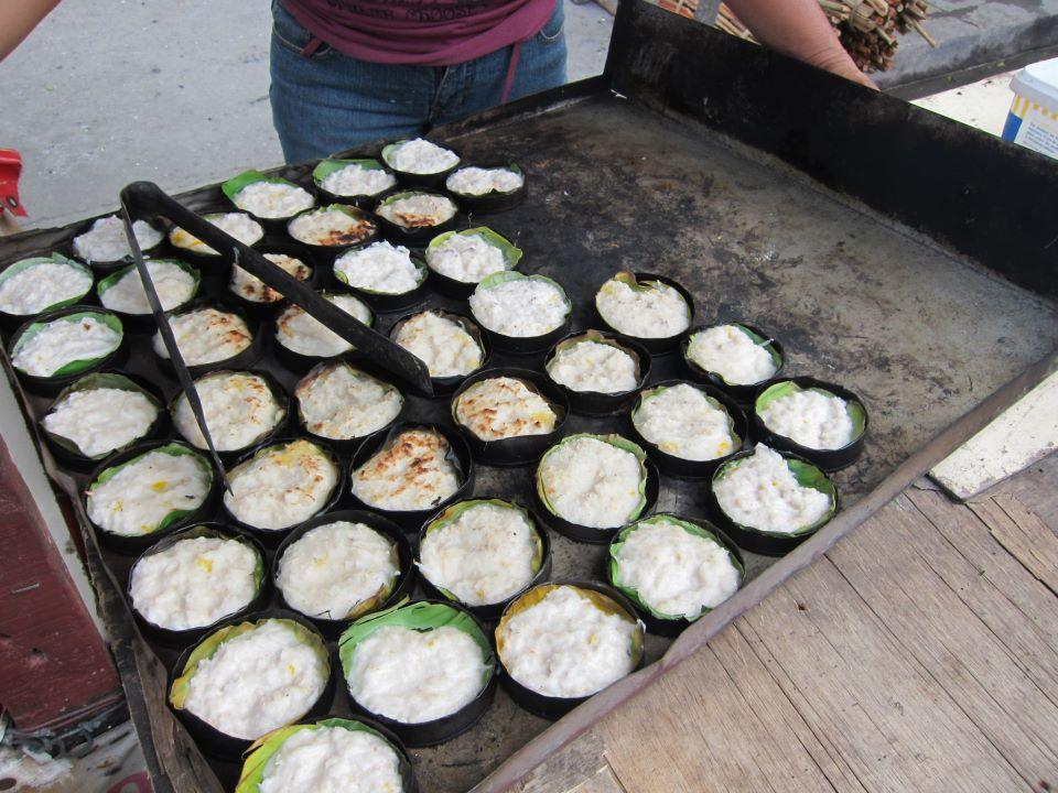 Roadside stall selling bibingka (
