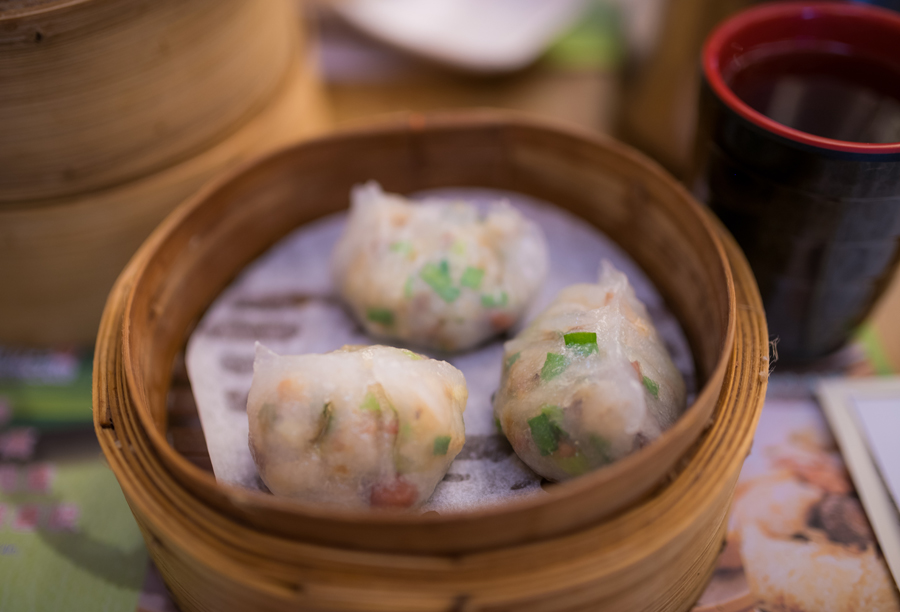 Above are the vegetable dumplings.