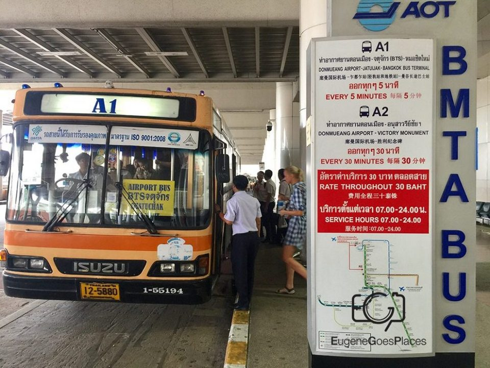 Bus A1-don muand airport to bangkok-thailand2