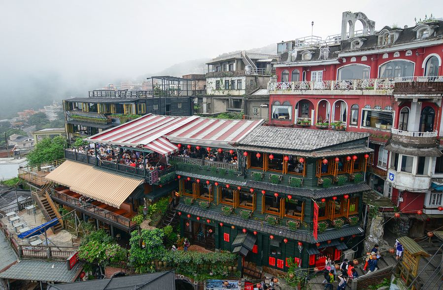 Jiufen A Mei Tea House taipei itinerary 4 days blog,taipei recommended itinerary,taipei travel itinerary,