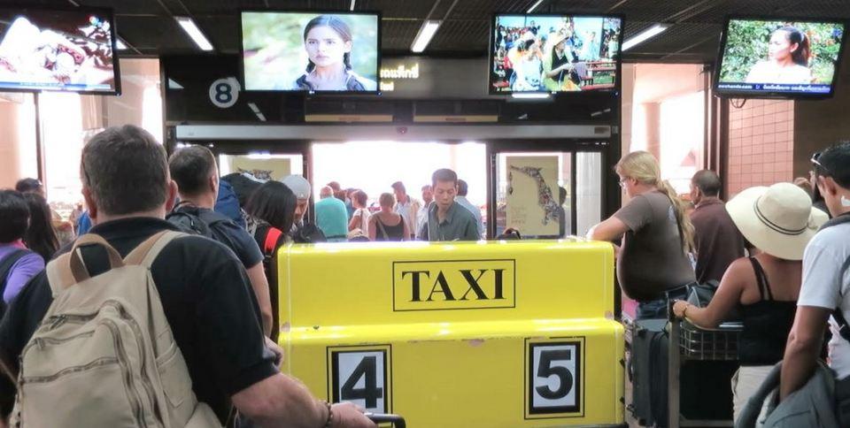 Taxi from Don Muang Airport-bangkok-thailand