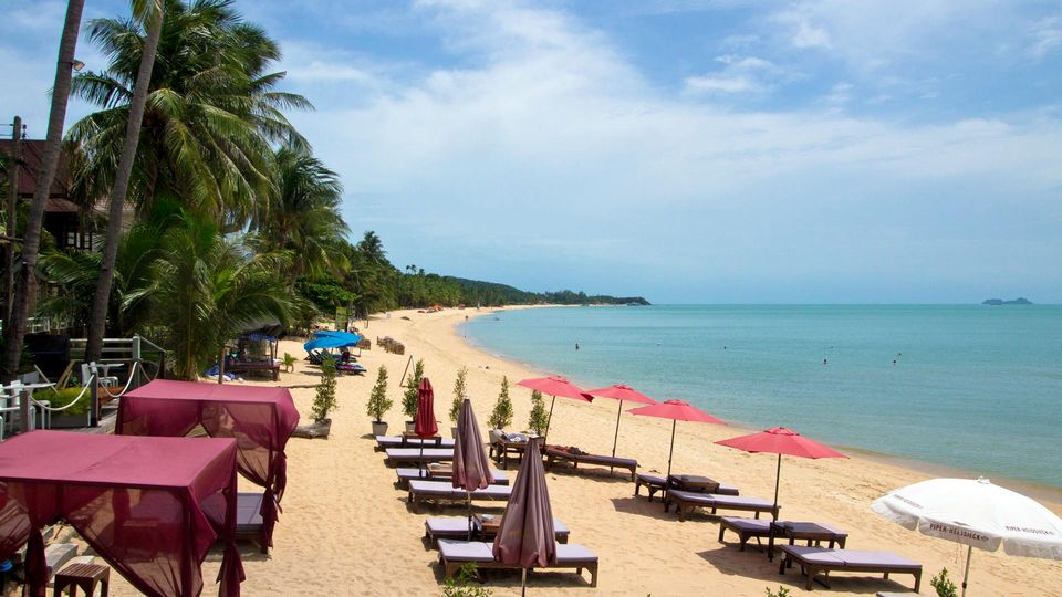 The Maenam Beach at Koh Samui's north coast