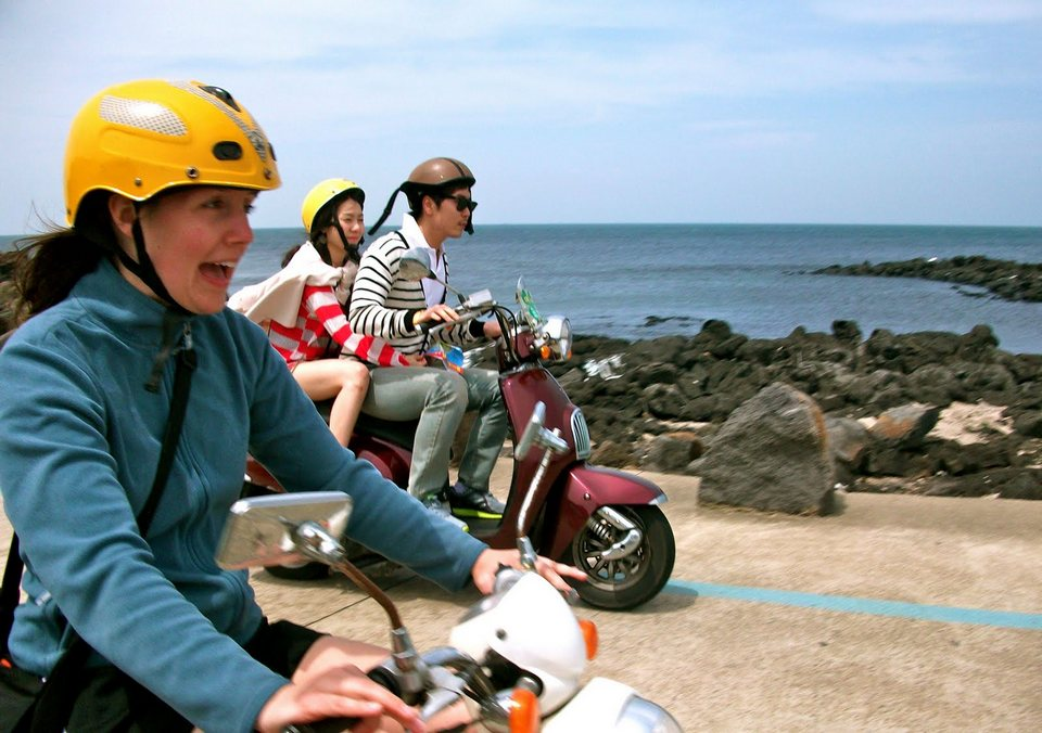 Explore Jeju on a scooter!