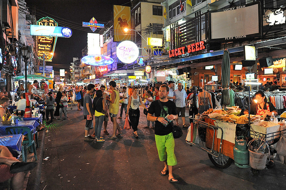 Khaosan - western street-bangkok-thailand1