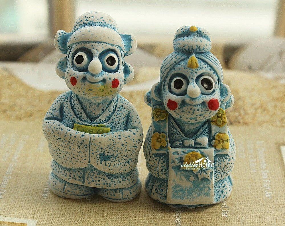 South-Korean-Jeju-island-Tol-Harubang-Tourist-Travel-Souvenir-Fridge-Magnet-Blue