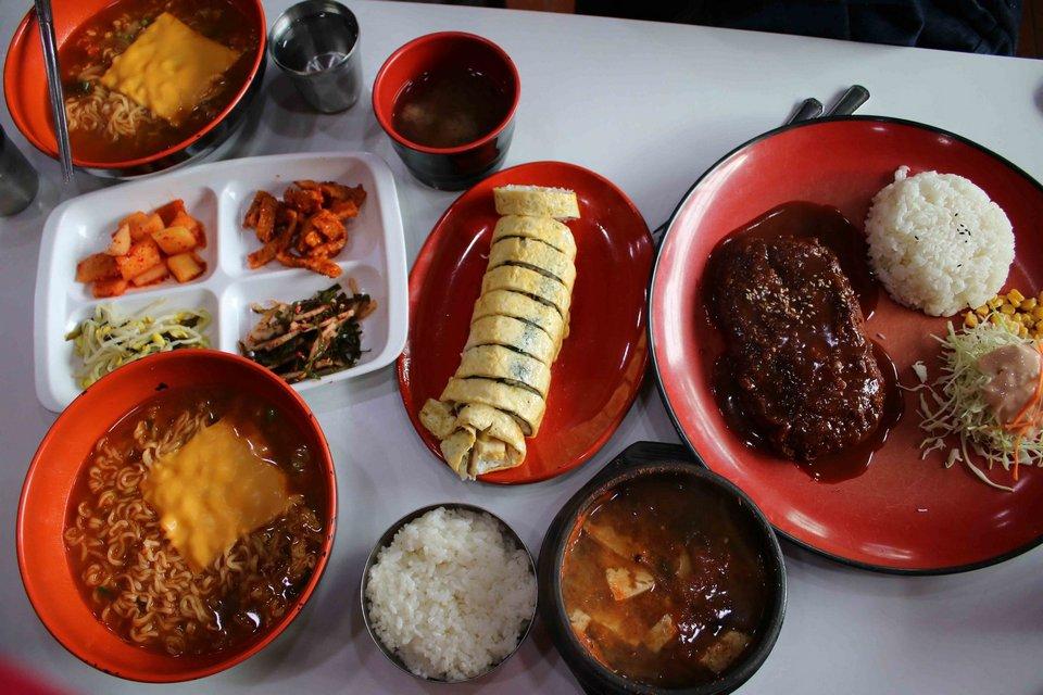 Gamcheon Culture Village showing food Picture: busan food tour blog.