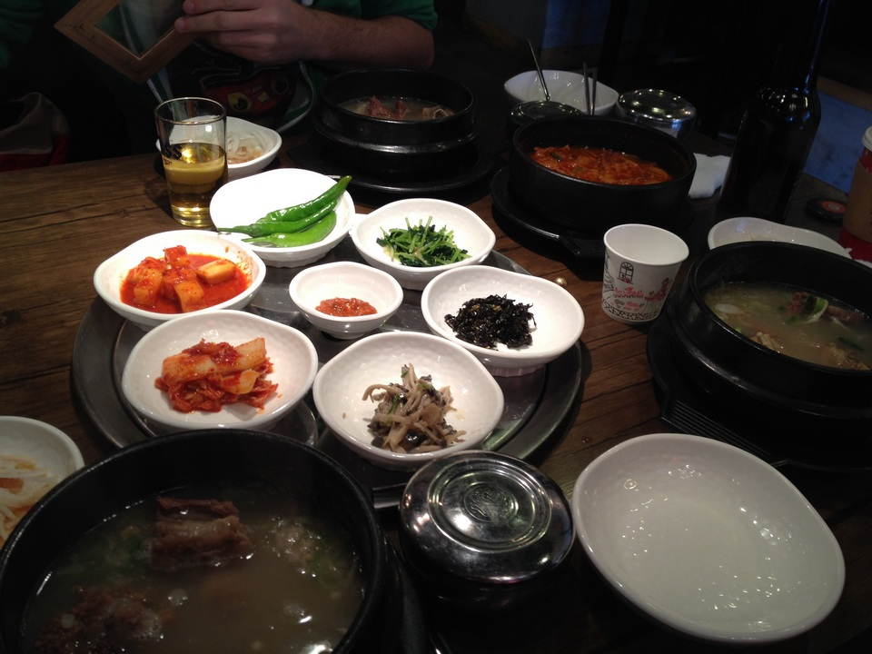 Gamcheon Culture Village showing food