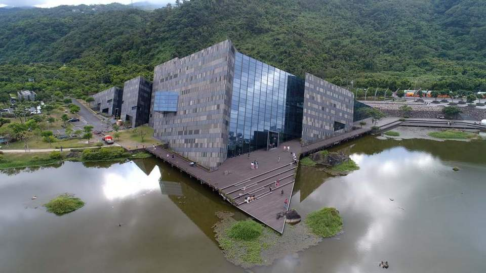 inside Lanyang museum yilan