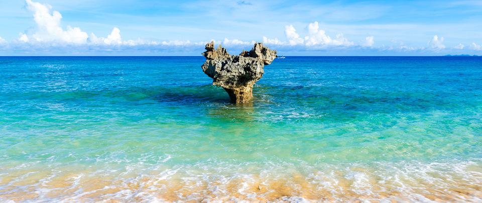 Heart Shaped Rocks at Kouri Island Picture: Okinawa blog.