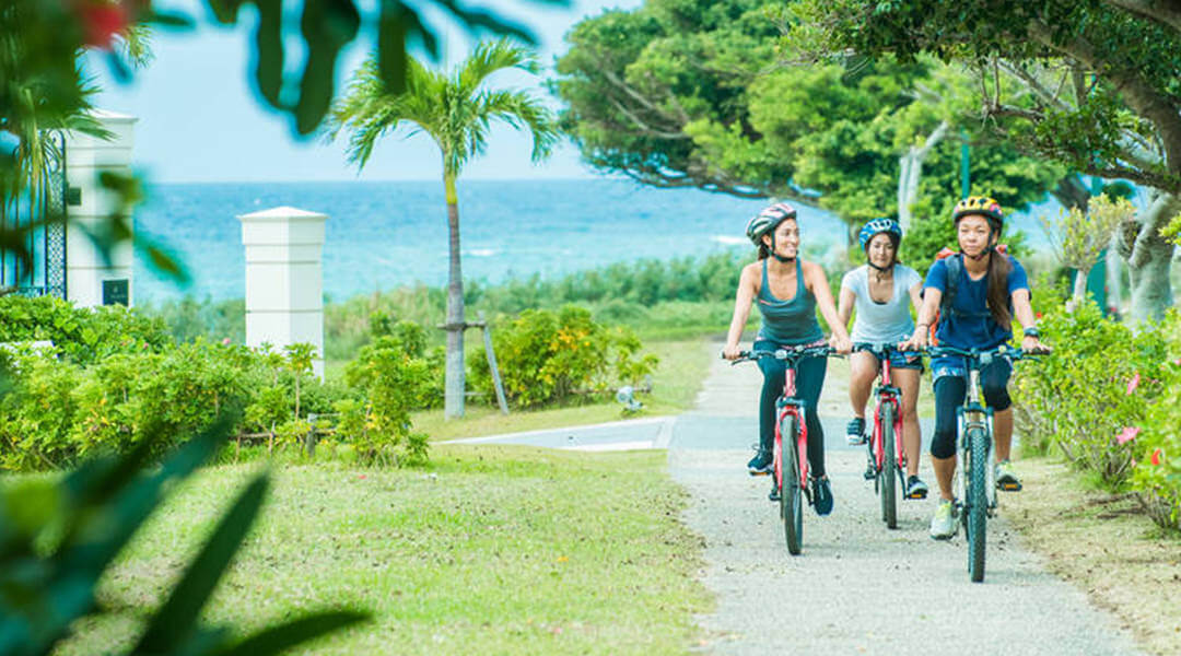 Cycling is a great way to get around Okinawa, and outside the main city streets there are endless routes to guide you through the islands' abundant nature.