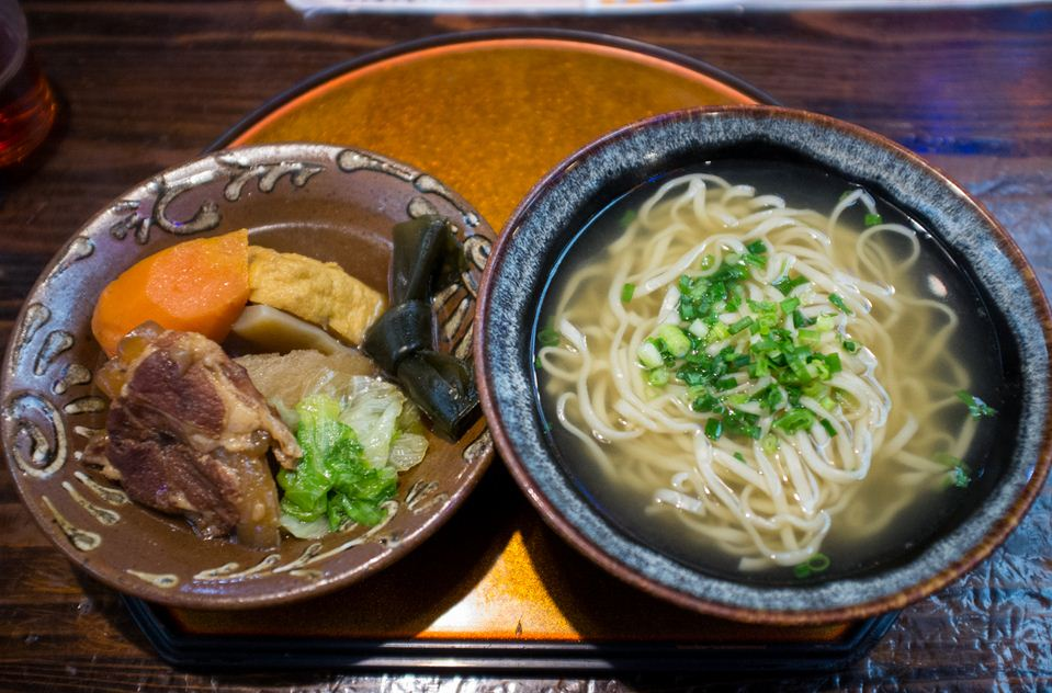 Okinawan Soba Noodles with Pork Belly and Fish Cake