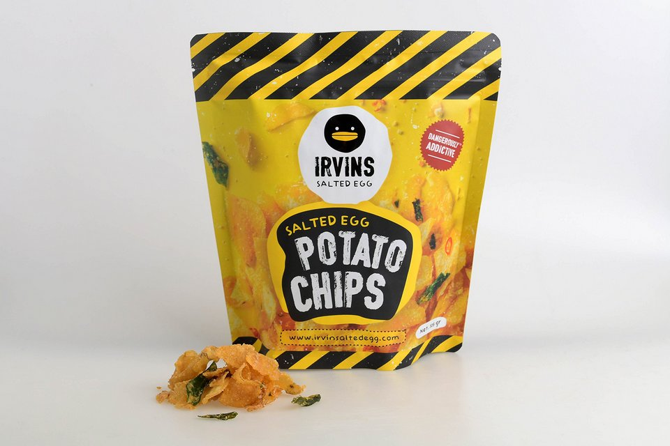 IRVINS Salted Egg Potato Chips Crisps 230g