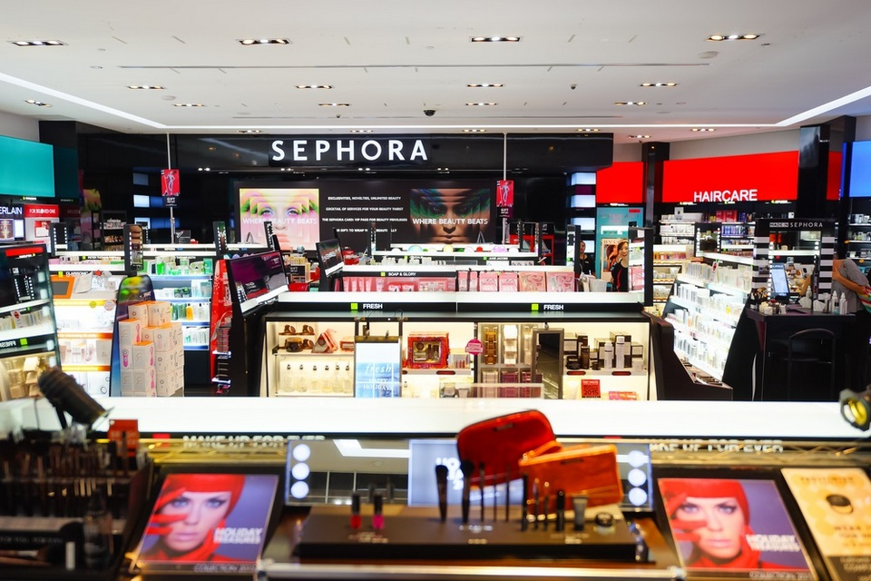 Sephora in Singapore doesn't carry all Sephora brands