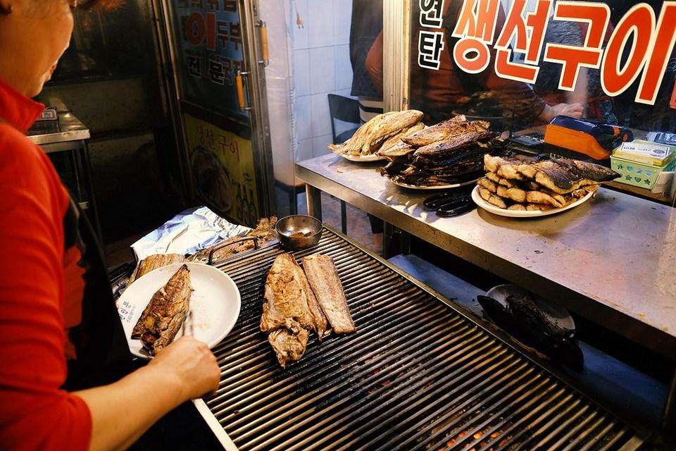 Dongdaemun Grilled Fish Street