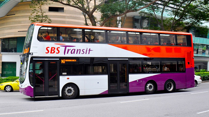 Buses in Singapore are very nice and clean.