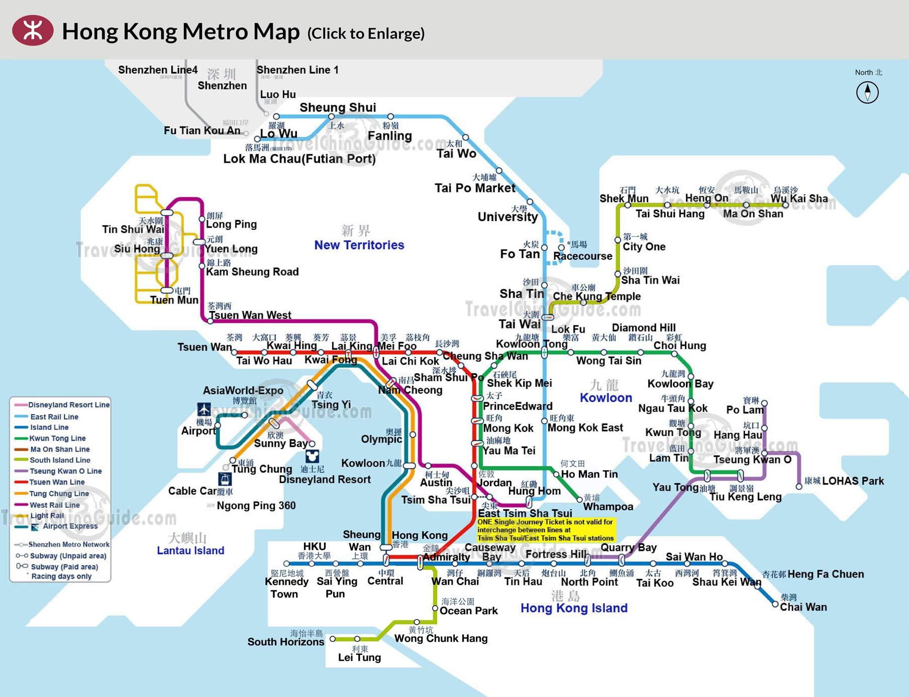 Hong Kong Subway Map metro map hong kong mtr hong kong map   Living + Nomads – Travel