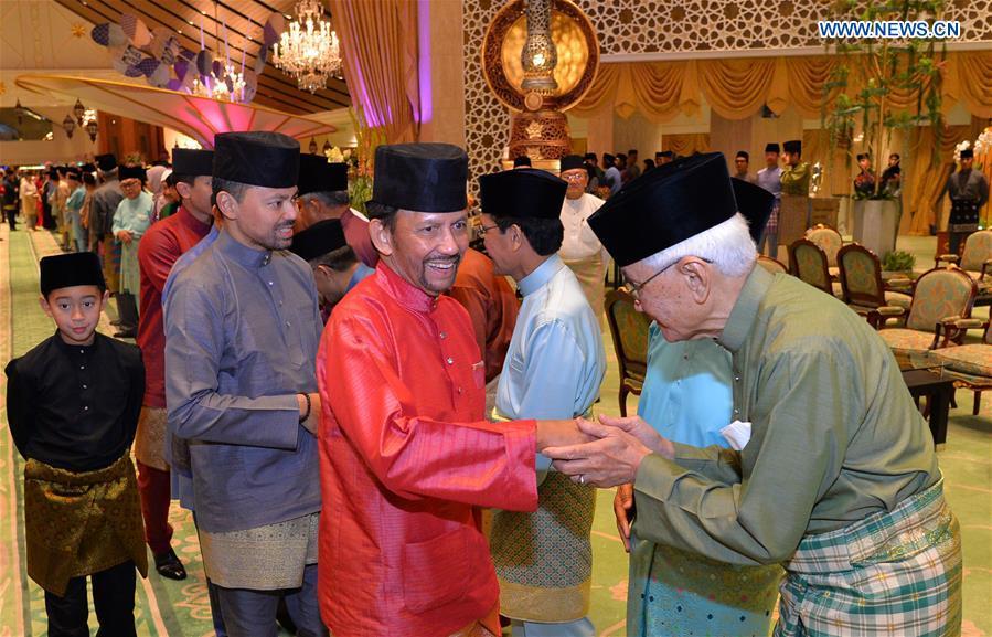 Brunei's Sultan celebrates Muslim festival of Hari Raya Aidilfitri in Bandar Seri Begawan