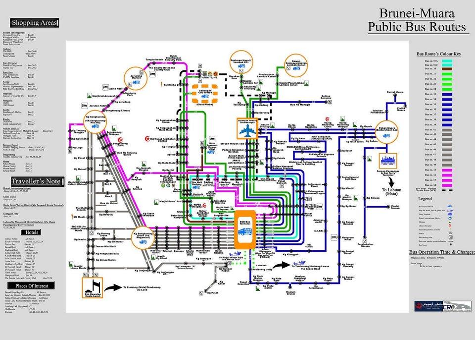 brunei bus routes map
