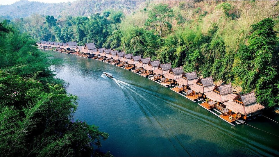 Asia's Top Floating Hotel in Kanchanaburi, Thailand