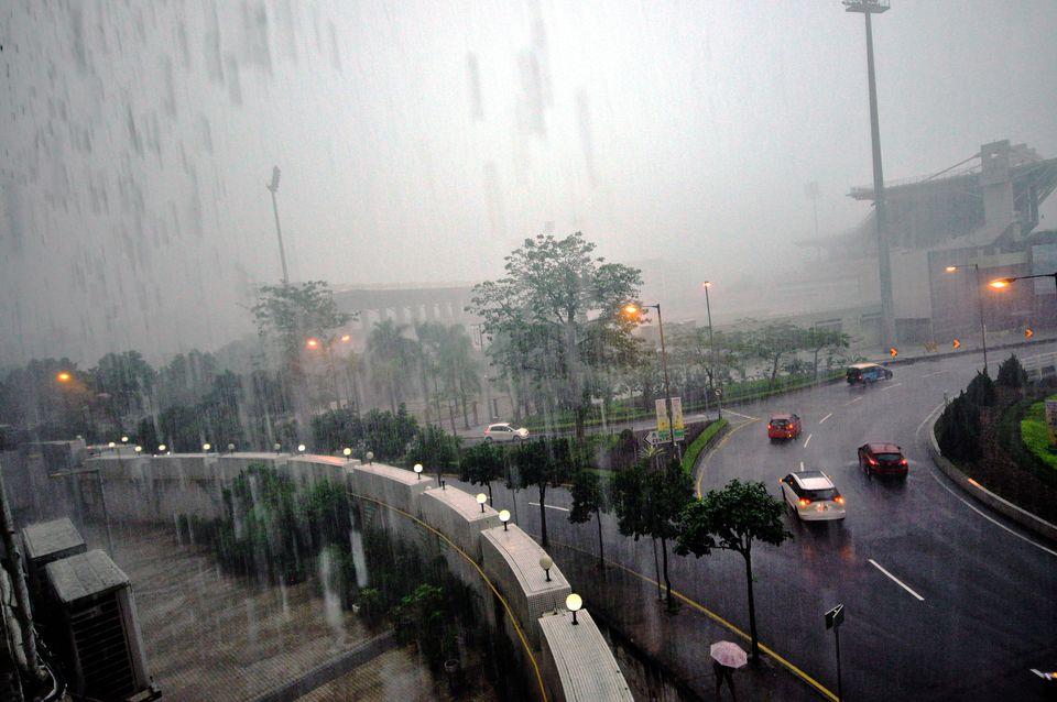 Rain in Macau