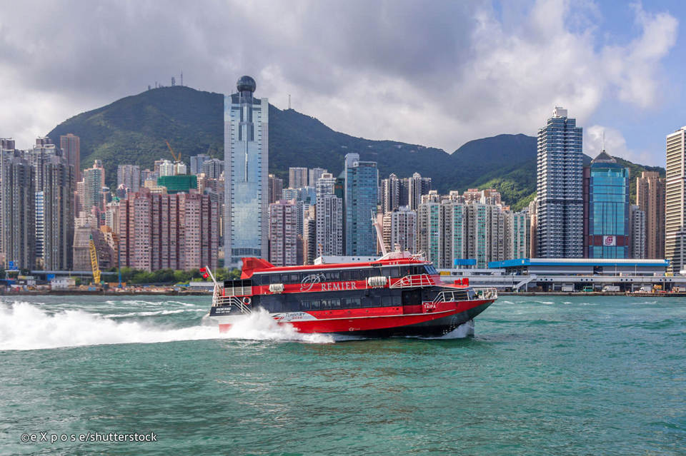 The hydrofoil from Hong Kong to Macau
