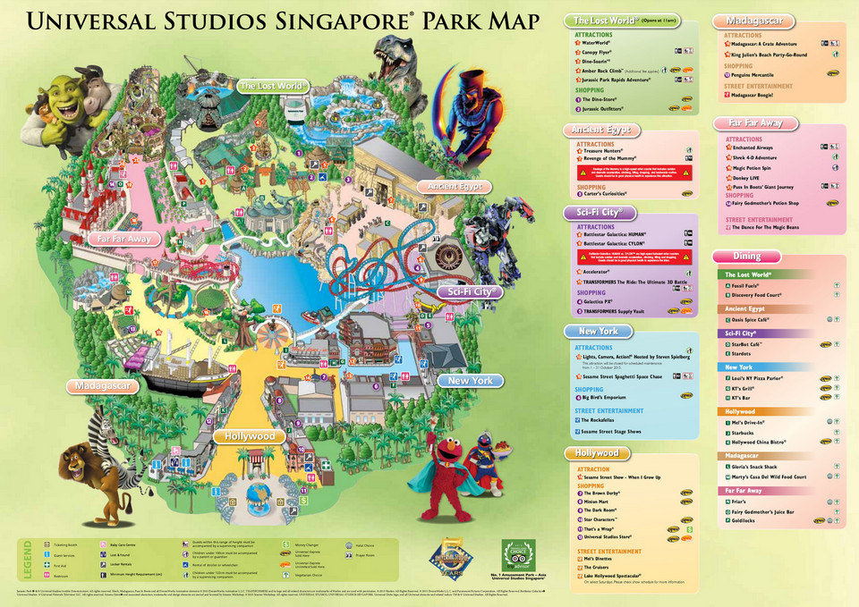Universal Studios Singapore Map4 Living Nomads