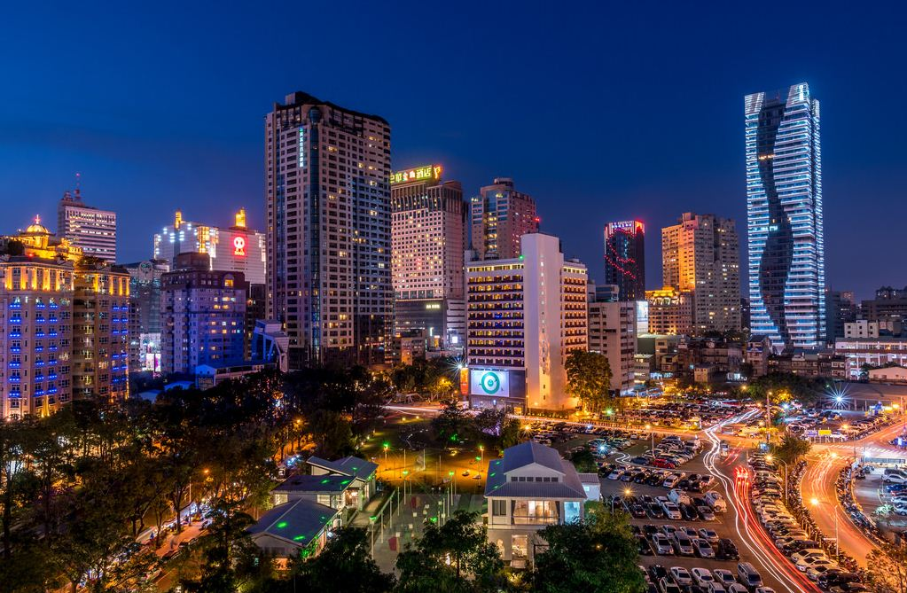 Taichung at night