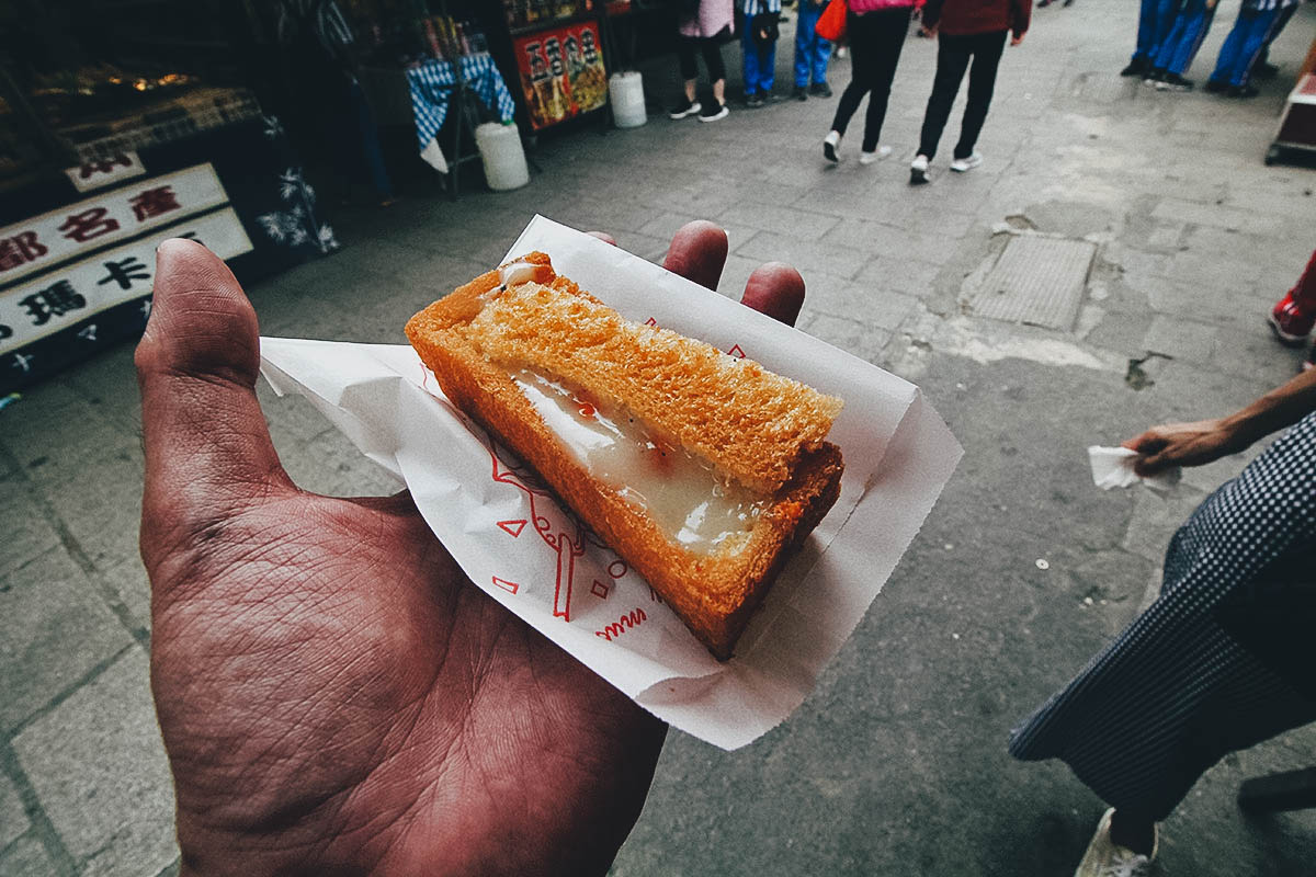 Coffin Bread in Anping street