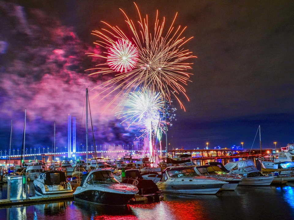 Annual Fireworks Festival in July in Docklands