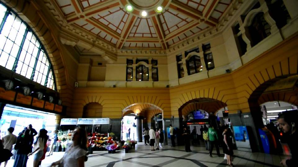 Inside Flinders Street Station