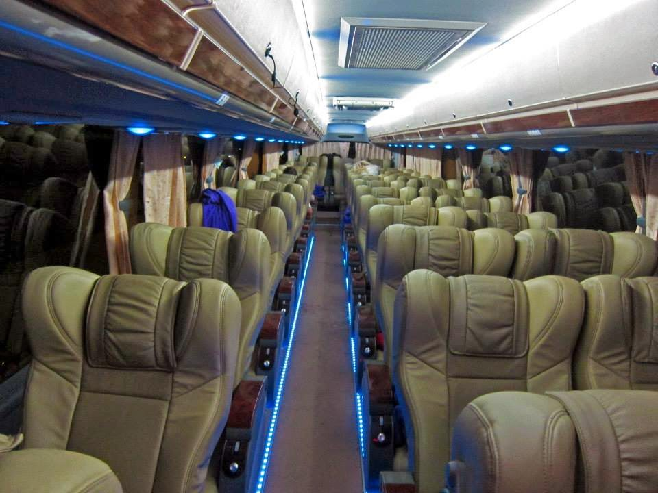 JJ Express Bus inside