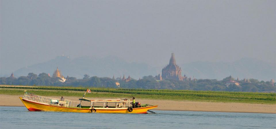 Cruise the Irrawaddy River at Sunset in Bagan