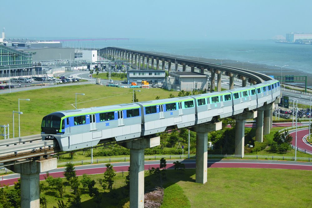 Tokyo Monorail connecting Haneda Airport and central Tokyo