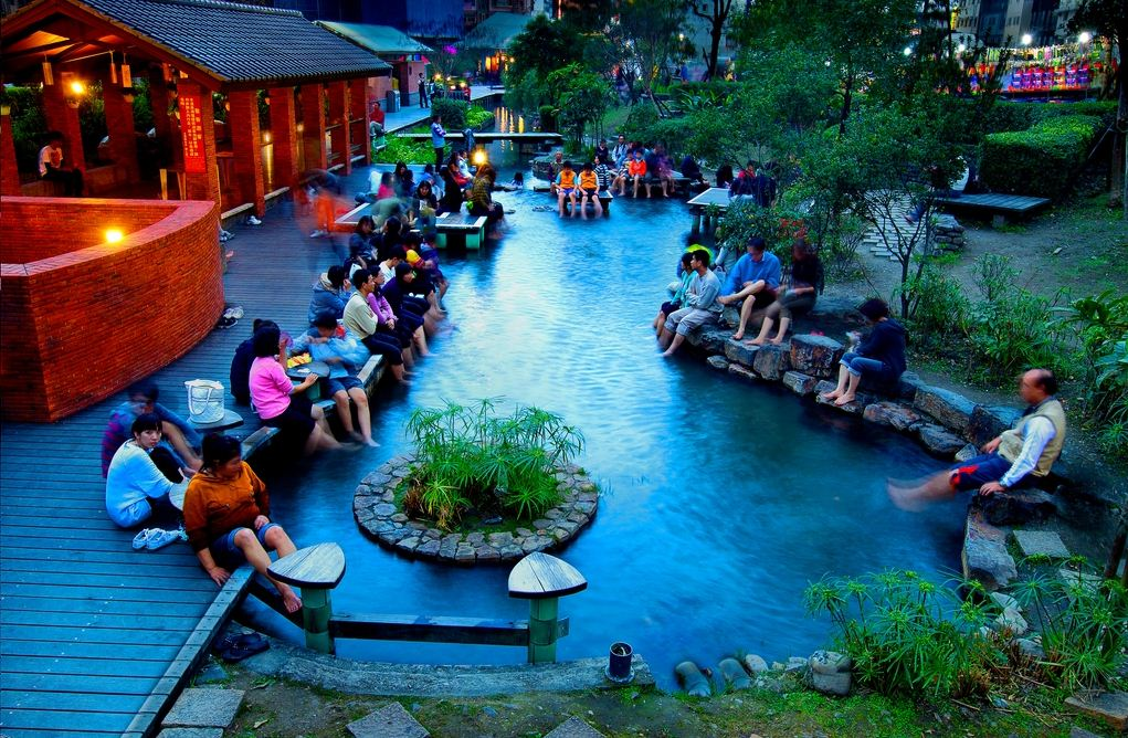 Public hot spring in Jiaoxi, Yilan County