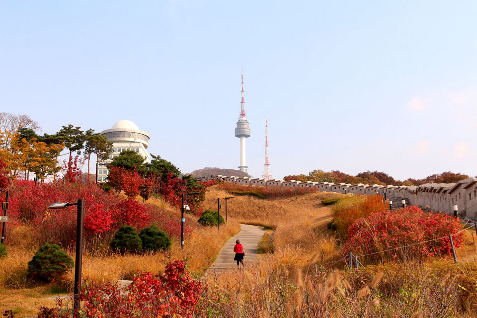 Autumn view of Namsan Seoul Tower