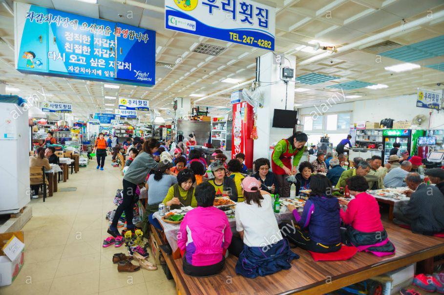 enjoy seafood at Busan Jagalchi Festival