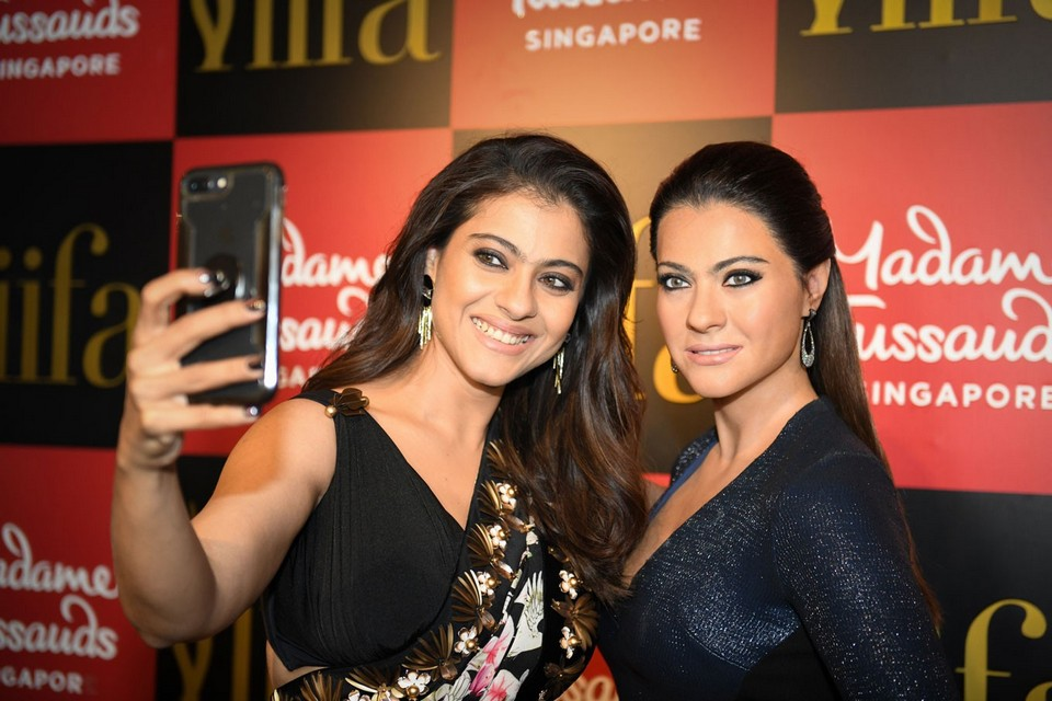 Bollywood actress Kajol unveils wax figure at Madame Tussauds Singapore