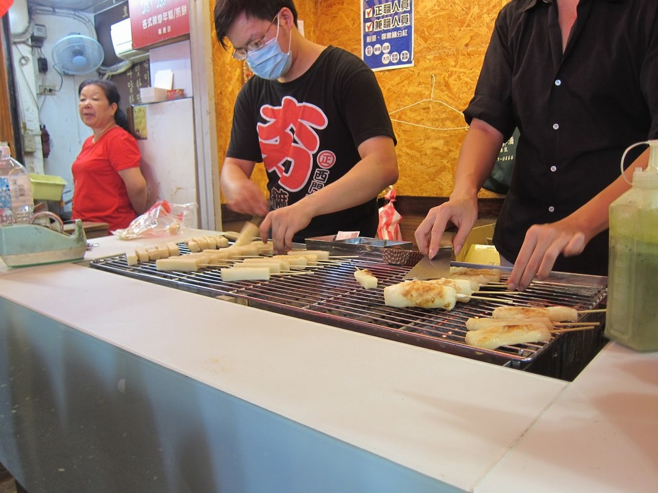 Freshly grilled Taiwanese Mochi in Cheese