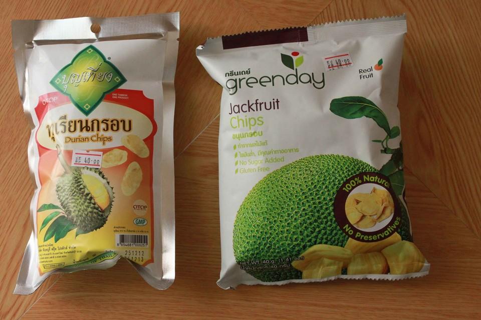 Durian, jackfruit snack