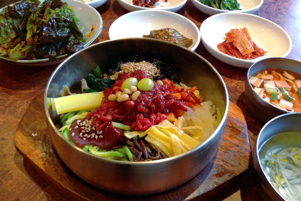 Bibimbap from Hanguk-jip A Jeonju specialty.