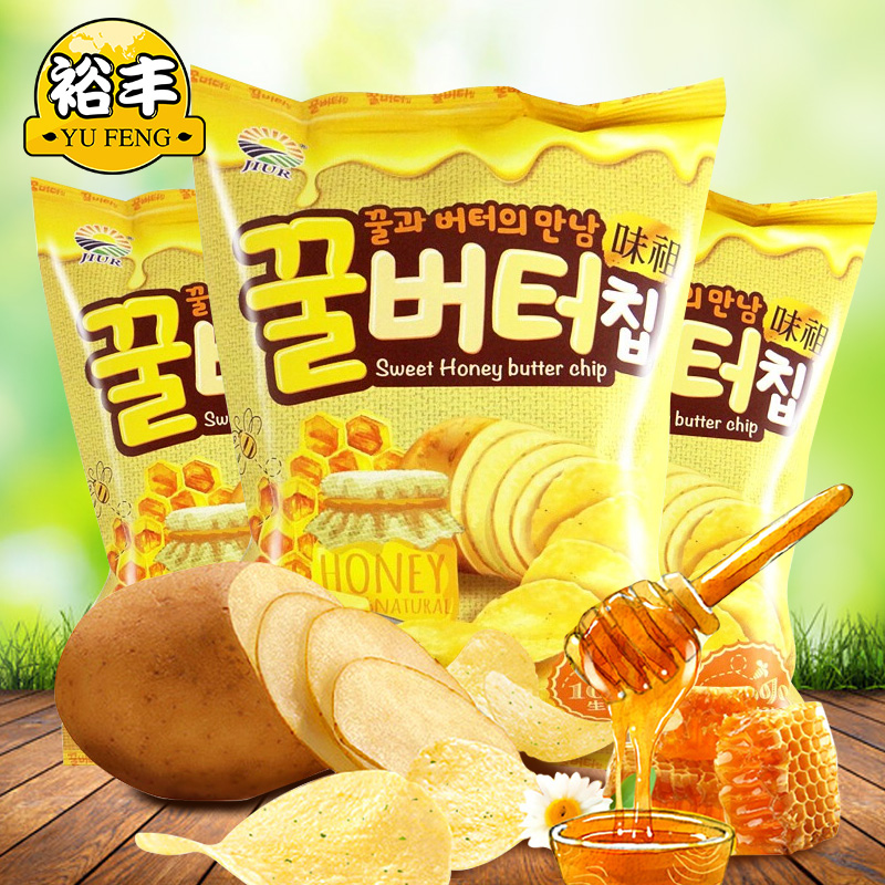 honey butter Potato Chips korean
