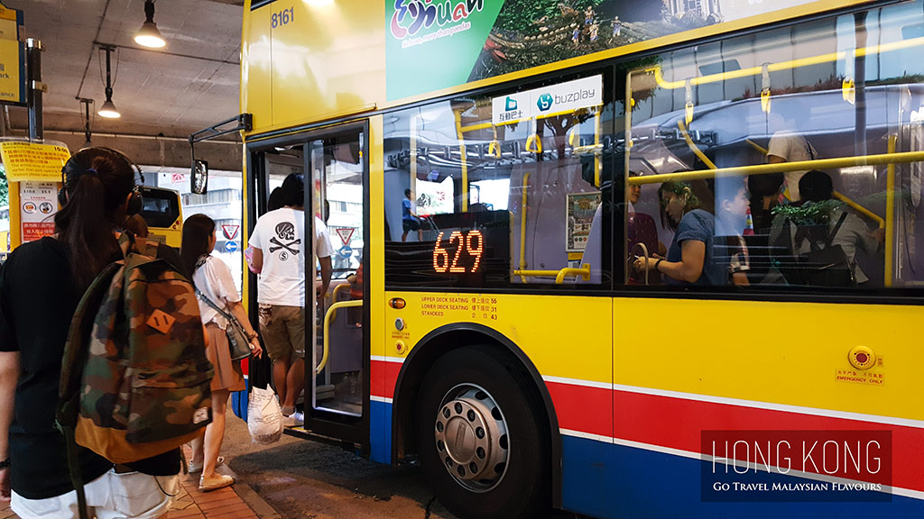 bus route 629 to ocean park hong kong