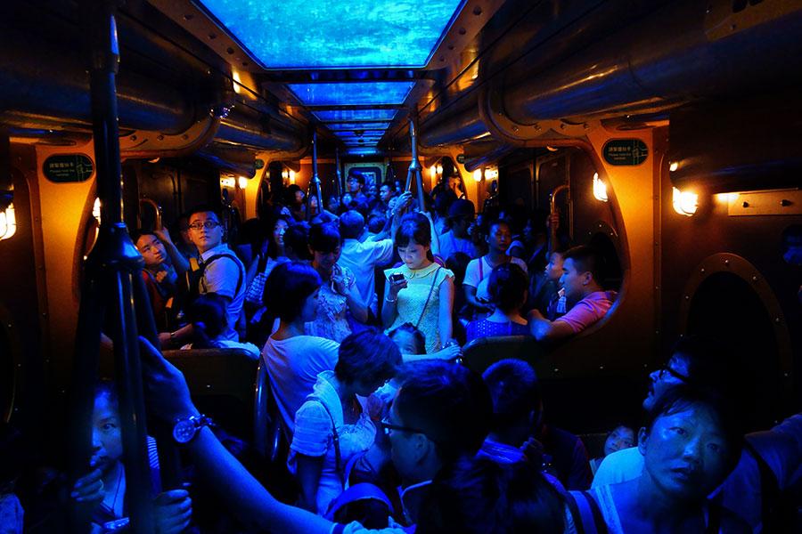 ocean express inside-train