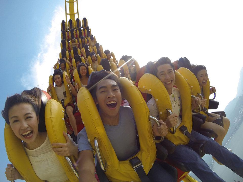 Hair Raiser Roller Coaster POV Ocean Park Hong Kong