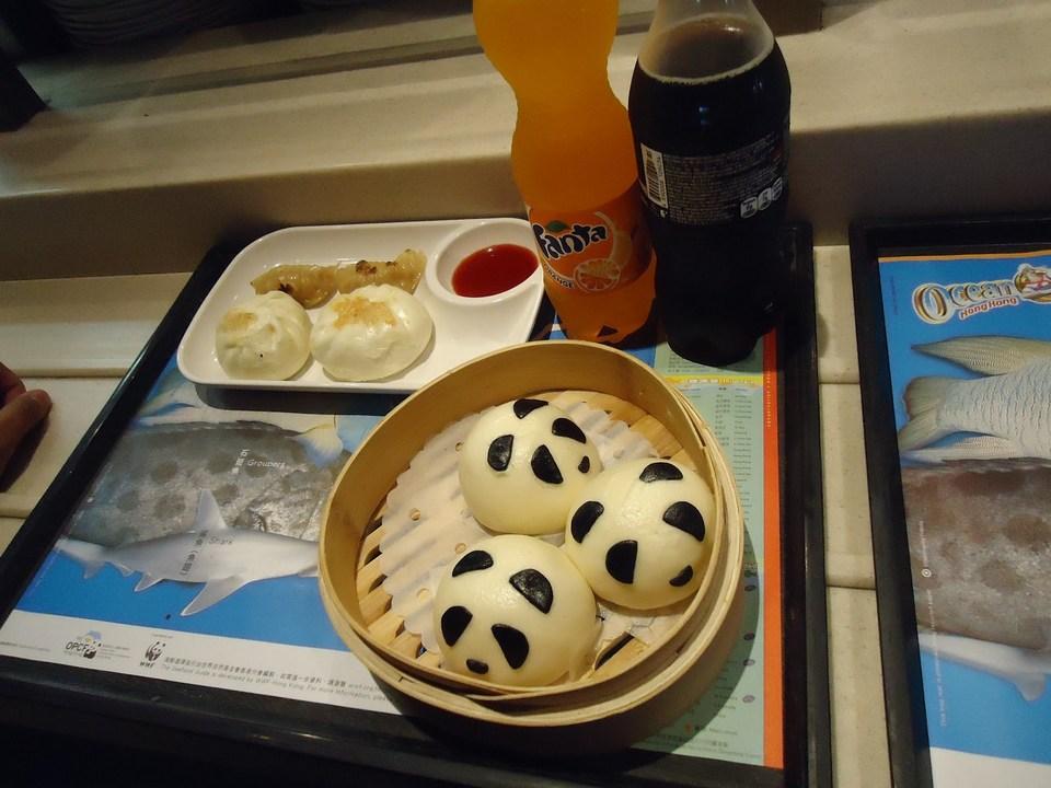 Panda buns and dumplings.