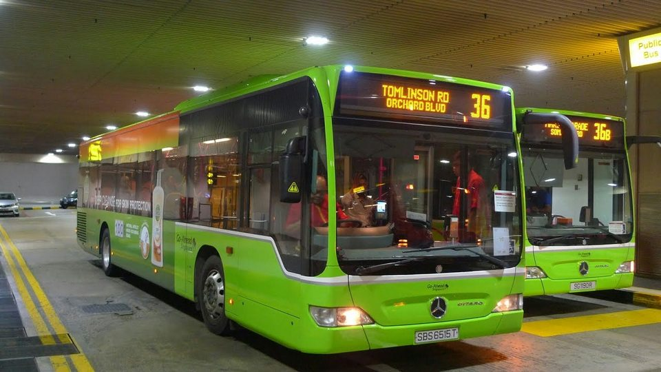 Changi Airport Terminal 3 Basement – Commuters boarding Service 36