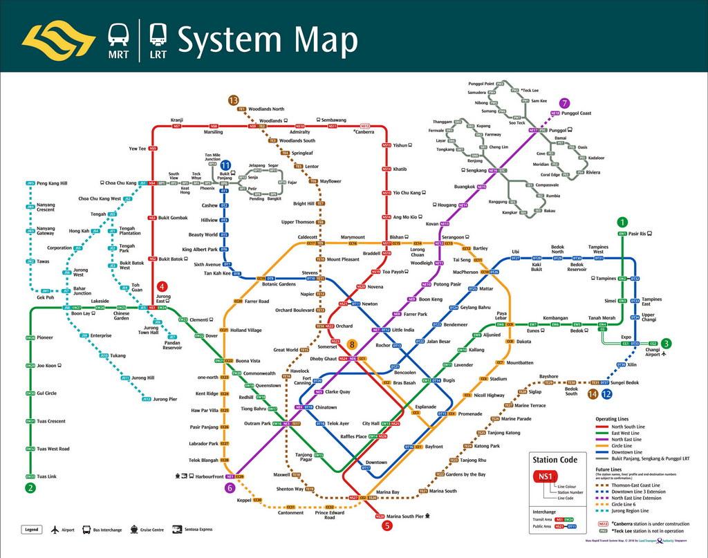 mrt singapore map