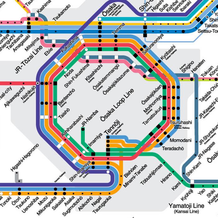 Osaka loop line map